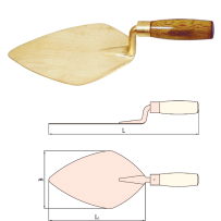 Trowel Bricklayer's with Wooden Handle