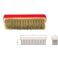 Brass Scratch Brush, Flat Back, 6x16 Rows