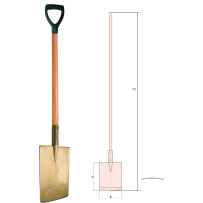 Edging Spade with Wooden Handle