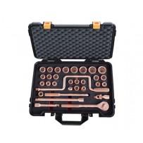 "Non Sparking Socket Set - 1/2"" Sq Drive - 32 piece"