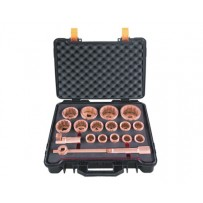 "Non Sparking Socket Set - 1"" Sq Drive - 18 piece"
