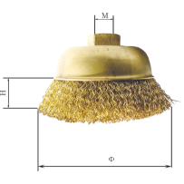 Brass Cup Wire Brush